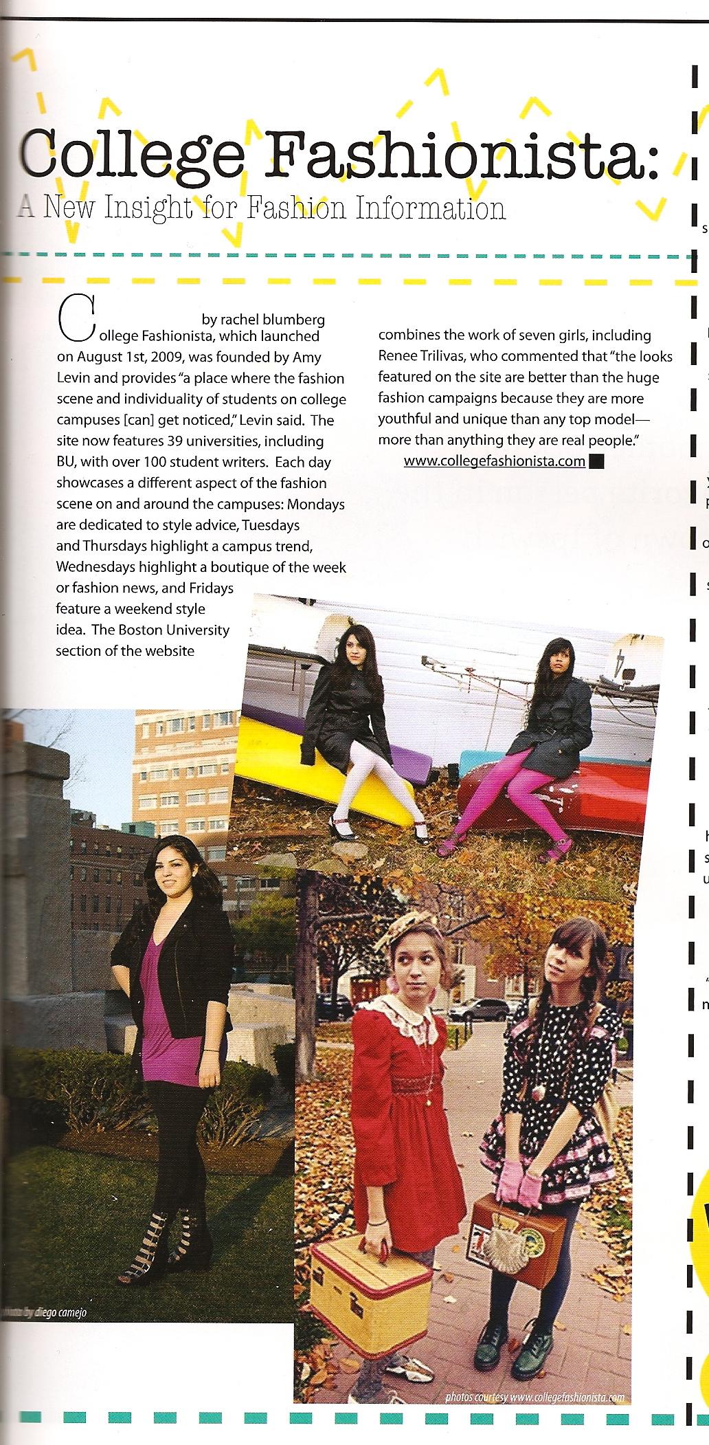 College fashionista profile renee trilivas for College fashion